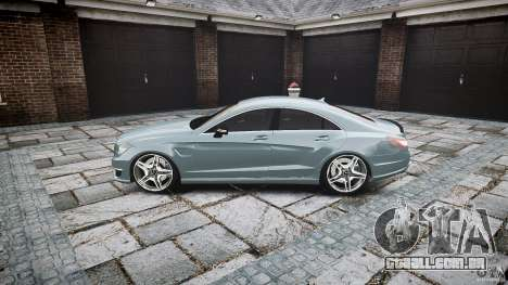 Mercedes Benz CLS 63 AMG 2012 para GTA 4 esquerda vista