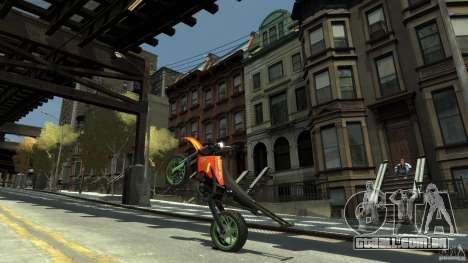 Stunt Supermotard Sanchez para GTA 4 vista de volta