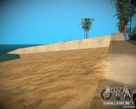 New textures beach of Santa Maria para GTA San Andreas sexta tela