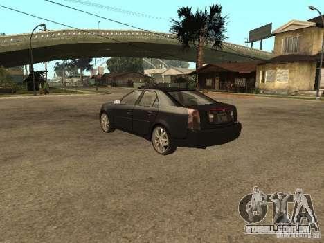Cadillac CTS para GTA San Andreas esquerda vista