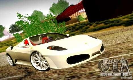 Ferrari F430 Spider para vista lateral GTA San Andreas