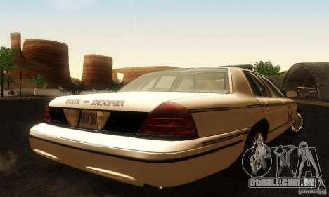 Ford Crown Victoria Ohio Police para GTA San Andreas esquerda vista