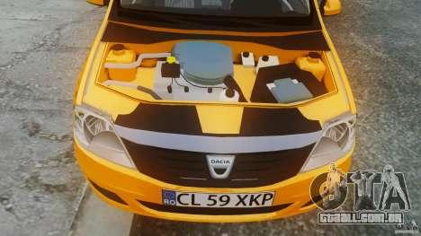 Dacia Logan Facelift Taxi para GTA 4 vista direita