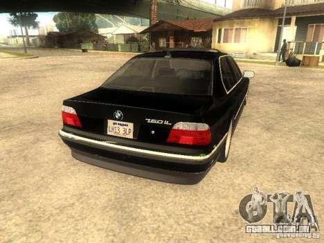 BMW 750iL para vista lateral GTA San Andreas
