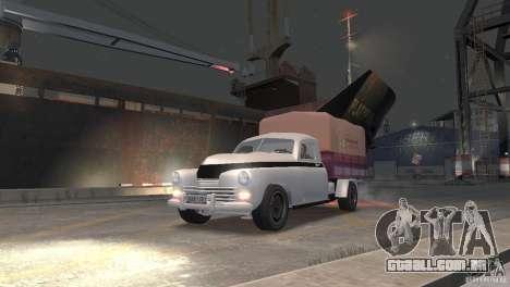 GAZ M20 Pickup para GTA 4 traseira esquerda vista