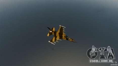 F-16C Fighting Falcon para GTA 4 vista de volta