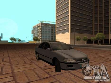Opel Omega B 1998 v2 para GTA San Andreas vista traseira