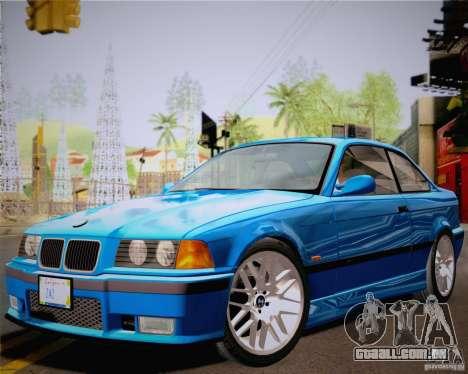 BMW M3 E36 New Wheels para GTA San Andreas traseira esquerda vista
