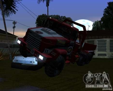 Julgamento KrAZ-6322 para GTA San Andreas vista traseira