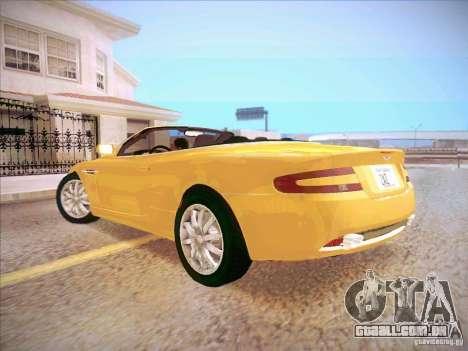 Aston Martin DB9 Volante v.1.0 para GTA San Andreas esquerda vista