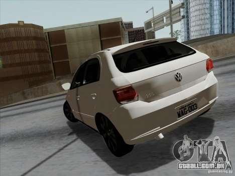 Volkswagen Golf G6 v3 para GTA San Andreas traseira esquerda vista
