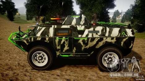 Monster APC para GTA 4 esquerda vista