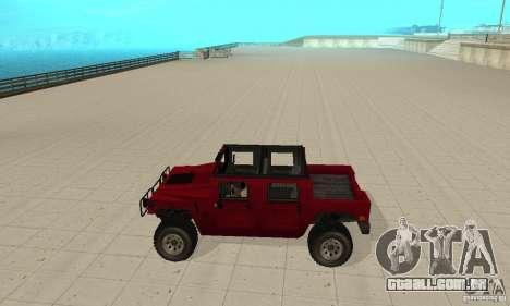 Hummer Civilian Vehicle 1986 para GTA San Andreas esquerda vista