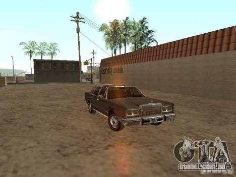 Lincoln Town Car 1986 para GTA San Andreas vista traseira