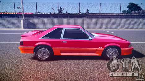 Ford Mustang GT 1993 Rims 2 para GTA 4 vista interior