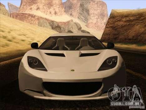 Lotus Evora para GTA San Andreas vista superior