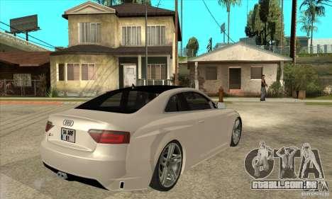 Audi S5 Quattro Tuning para GTA San Andreas vista direita