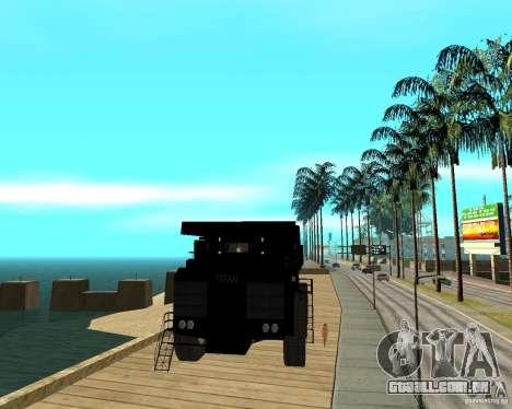 Dumper para GTA San Andreas vista traseira