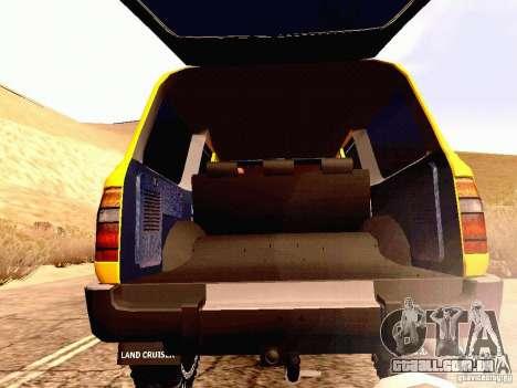 Toyota Land Cruiser 80 Off Road Rims para GTA San Andreas vista interior