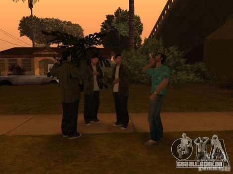 Los Santos Protagonists para GTA San Andreas por diante tela