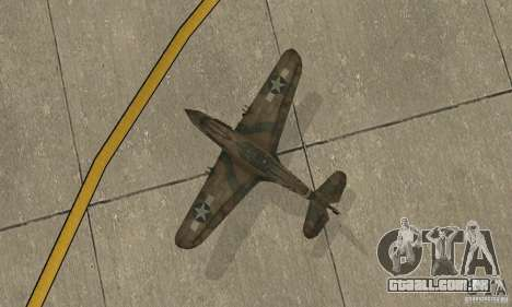 P-35 para GTA San Andreas vista traseira