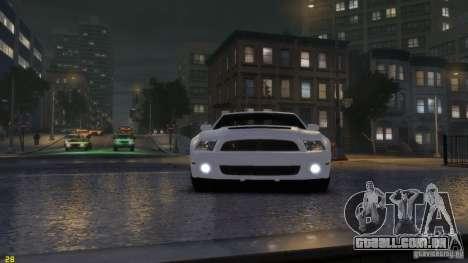 Ford Shelby Mustang GT500 2011 v2.0 para GTA 4 esquerda vista