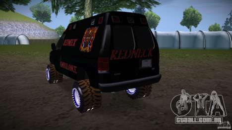 Ford E-450 Off Road para GTA San Andreas esquerda vista