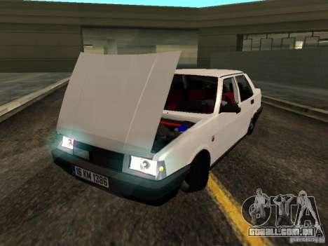 Tofas Sahin DRIFT para GTA San Andreas vista traseira