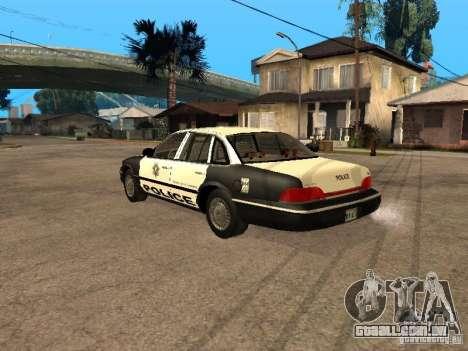 Ford Crown Victoria 1994 Police para GTA San Andreas esquerda vista