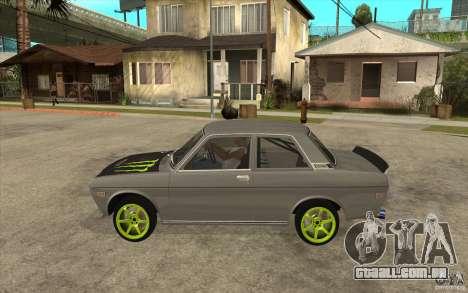 Datsun 510 Drift para GTA San Andreas esquerda vista