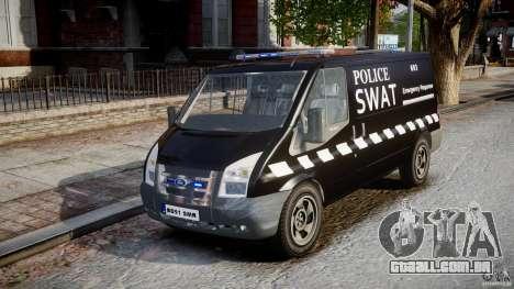 Ford Transit SWAT [ELS] para GTA 4