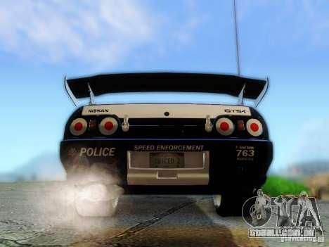 Nissan Skyline R32 Police para GTA San Andreas vista interior