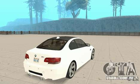 BMW M3 2008 para GTA San Andreas vista direita