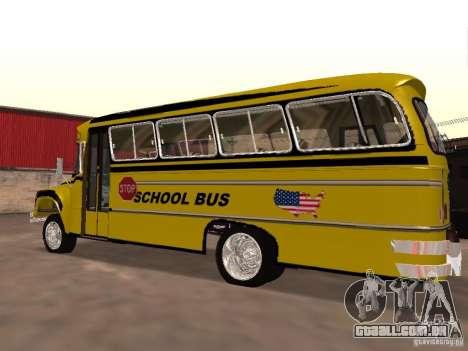 Bedford School Bus para GTA San Andreas esquerda vista