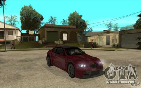 BMW M3 2009 para GTA San Andreas vista traseira