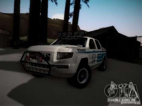 Honda Ridgeline Baja White para GTA San Andreas traseira esquerda vista