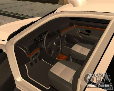 Peugeot 406 Taxi 2 para GTA San Andreas vista direita