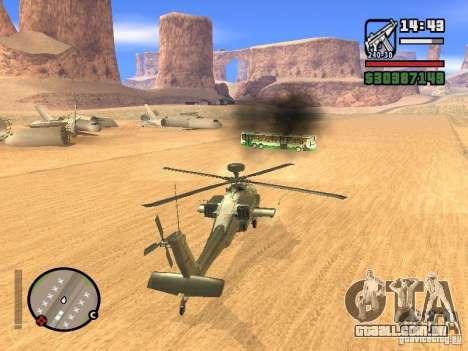 AH-64D Longbow Apache para GTA San Andreas vista interior
