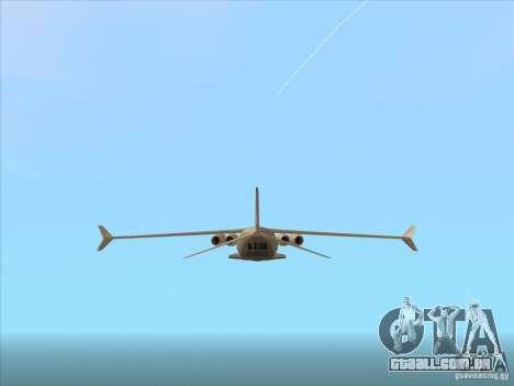 Cargo Shamal para GTA San Andreas vista direita