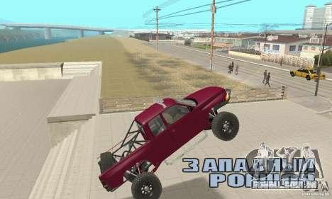 Dodge Ram Prerunner para GTA San Andreas vista interior