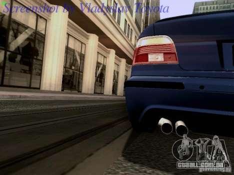 BMW E39 M5 2004 para GTA San Andreas vista superior