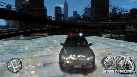 Subaru Impreza WRX STI Police para GTA 4 vista direita