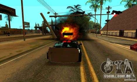 Ford Mustang Shelby GT500 From Death Race Script para GTA San Andreas vista superior