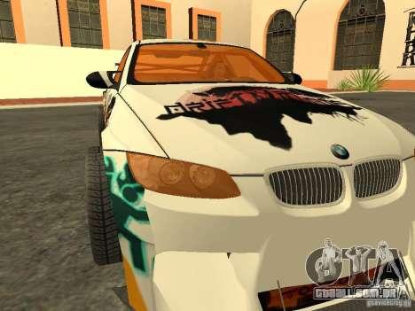 BMW M3 E92 DriftRoots para GTA San Andreas vista direita
