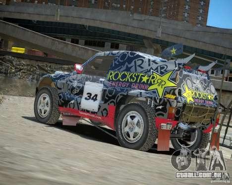 Mitsubishi Pajero Proto Dakar EK86 vinil 1 para GTA 4 traseira esquerda vista