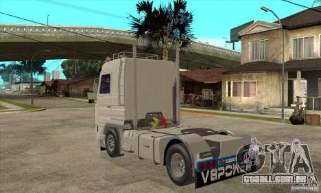 Scania 143M 500 V8 para GTA San Andreas traseira esquerda vista