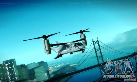 MV-22 Osprey para GTA San Andreas vista interior