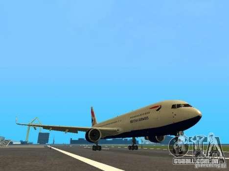 Boeing 767-300 British Airways para GTA San Andreas esquerda vista