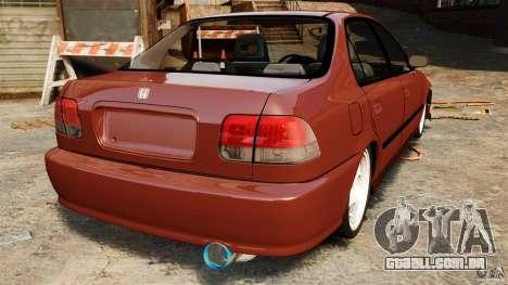 Honda Civic iES para GTA 4 traseira esquerda vista