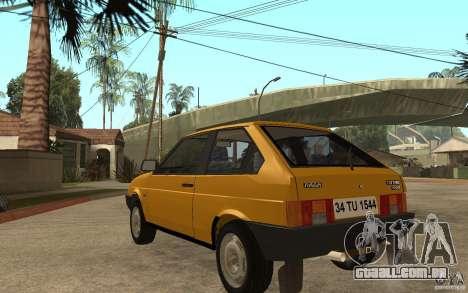 VAZ Lada Samara 2108 Sport para GTA San Andreas traseira esquerda vista